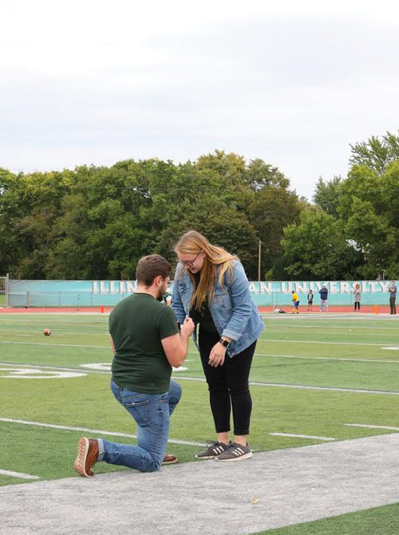 Halftime happiness: Titan proposal takes place