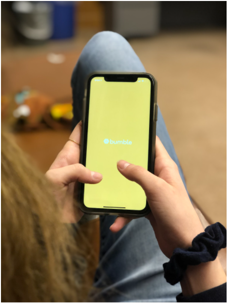 Bumble is a popular dating app for college students, amongst others like Hinge, Tinder, and Coffee Meets Bagel. Photo: Samira Kassem
