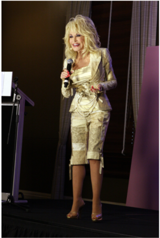Country superstar Dolly Parton, pictured here at  a recent television special, began her solo career just 2.6 miles from IWU's campus.  Credit: Flickr