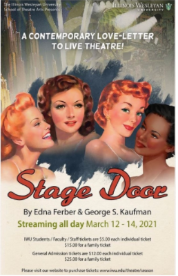 "SOTA's poster for ""Stage Door"" Photo: IWU SOTA Instagram Page"