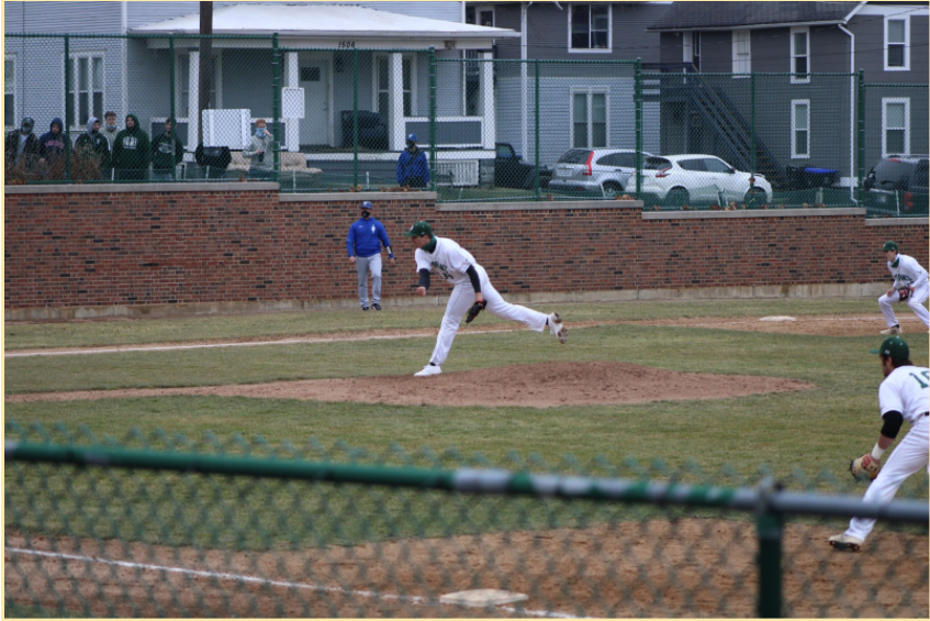 Guidaitis pitching against North Central Photo: Andrew Zienty